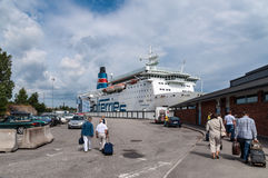 Boarding the ferry in Nynashamn near Stockholm Royalty Free Stock Photography