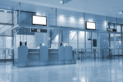 Boarding gate at an airport Royalty Free Stock Images