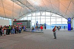 Boarding gate at hong kong airport Stock Images