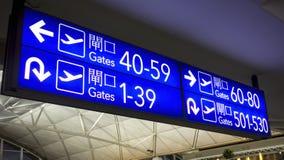Boarding gates sign Royalty Free Stock Image