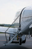 Boarding Ladder. On private jet sitting on runway Stock Images