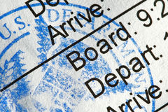 Boarding Pass Stock Photos