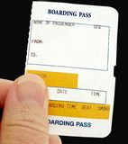 Boarding Pass. For any form of transport Stock Photos