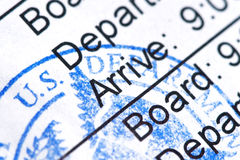 Boarding Pass Royalty Free Stock Image