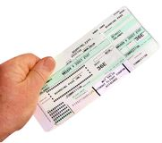 Boarding Pass. IN THE NEWS Royalty Free Stock Images