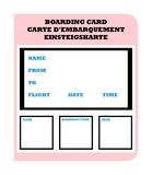 Boarding Pass Royalty Free Stock Photography