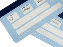 Boarding pass. Cards isolated on white Stock Image
