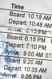 Boarding Pass Stock Photography
