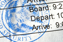 Boarding Pass Stock Photo