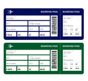 Boarding pass. Airline boarding pass ticket for traveling by plane. Vector illustration Royalty Free Stock Photography