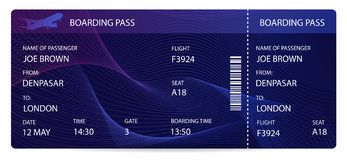 Boarding pass airplane ticket, traveler check template vector illustration