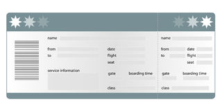 Boarding pass blank Royalty Free Stock Photo
