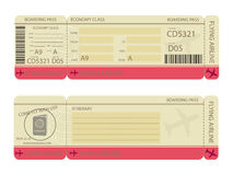 Boarding Pass Design Template Royalty Free Stock Images