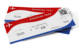 Boarding pass with fictitious numbers and names. 3D illustration.  Stock Photography