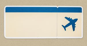 A boarding pass isolated on background Vector Illustration