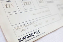 Boarding pass. Stock Photo