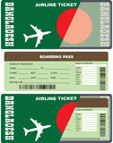 Boarding pass for passenger in Bangladesh Royalty Free Stock Images