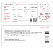 Boarding pass. Simple and clear airplane boarding pass template isolated on white Royalty Free Stock Images
