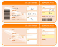 Boarding pass ticket concept. Both sides. Isolated. Boarding pass ticket concept. Both sides. Isolated on white Royalty Free Stock Photos