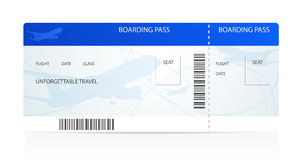 Boarding pass (ticket) with plane (airplane)
