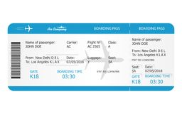 Boarding pass ticket template. Airplane ticket. online Booking airline ticket concept. Vector vector illustration