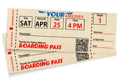 Boarding pass tickets Stock Image