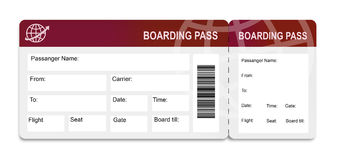 Boarding pass. To vacation. tickets Royalty Free Stock Photos
