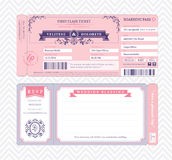 Boarding Pass Wedding Invitation Template Royalty Free Stock Photos
