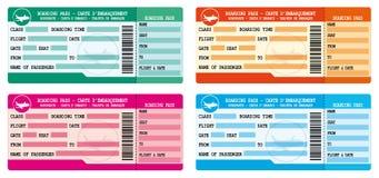Boarding passes. Flight coupons. Travel icons set Stock Photo
