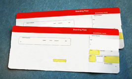 Boarding passes Stock Images