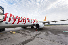 Boarding Pegasus airline airplane Royalty Free Stock Photos
