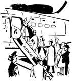 Boarding The Plane Stock Photos