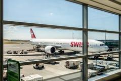 Boarding plane Stock Photos