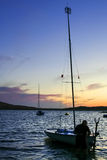 Boarding pontoons of Alange Reservoir, Spain Royalty Free Stock Photo