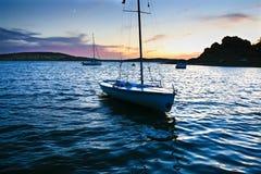 Boarding pontoons of Alange Reservoir, Spain Stock Images