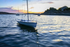 Boarding pontoons of Alange Reservoir, Spain Royalty Free Stock Photography