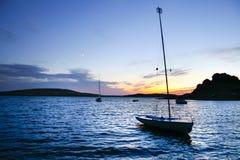 Boarding pontoons of Alange Reservoir, Spain Royalty Free Stock Photos