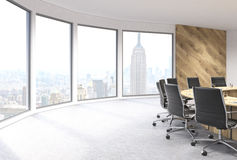 Boarding room NYC panoramic Royalty Free Stock Photography