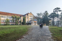 Boarding school Da Lat, Vietnam. Đà Lạt or Dalat (pop. 206,105 as of 2009, of which 185,509 are urban inhabitants, is the capital of Lâm Đồng Province Stock Photos