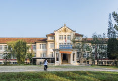 Boarding school Da Lat, Vietnam. Đà Lạt or Dalat (pop. 206,105 as of 2009, of which 185,509 are urban inhabitants, is the capital of Lâm Đồng Province Stock Image