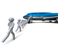 Boarding time Royalty Free Stock Photo