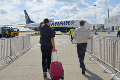Boarding to Ryanair flight Stock Image
