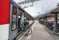 Brienz railway station royalty free stock photo