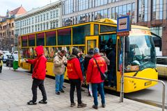 Boarding in a tourist bus Stock Photography