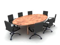 Boardroom. 3D rendered Boardroom Royalty Free Stock Photo