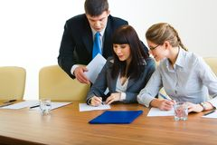 In the boardroom Royalty Free Stock Image