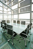 Boardroom. A modern and funky boardroom that has a neutral and universal vista royalty free stock photography