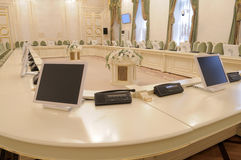 Boardroom. One of boardrooms of the Mariinsky Palace, St.-Petersburg, Russia Stock Photos
