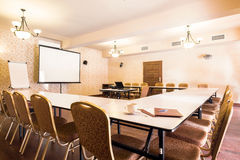 Boardroom for business meetings. Stylish boardroom for business meetings and conferences royalty free stock photo