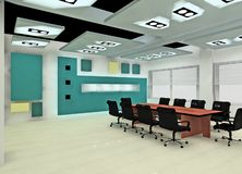 Boardroom design. A modern boardroom in the Business center Royalty Free Stock Images